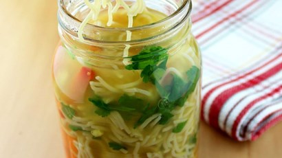 Vegan pho jar noodles