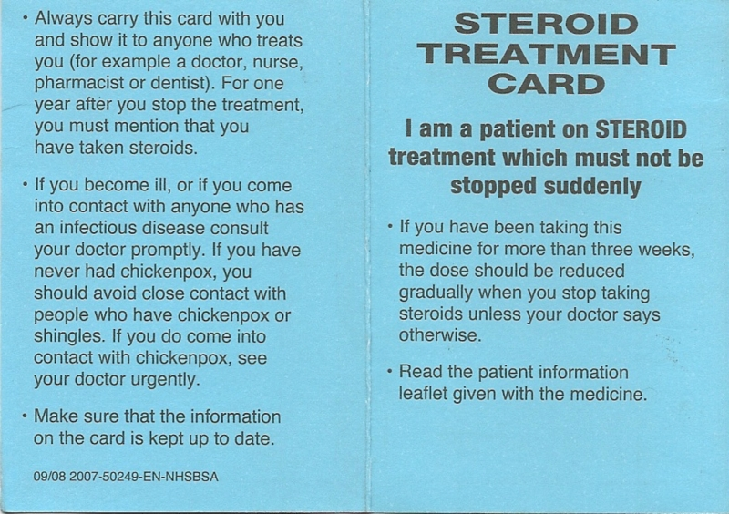 steroid treatment for severe allergic reaction