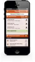 Iphone with patient access app