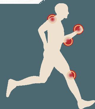 Pain points on man diagram