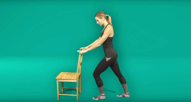Foot pain exercises - gastrocnemius muscle stretch
