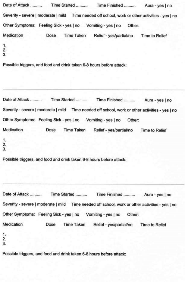 migraine notes