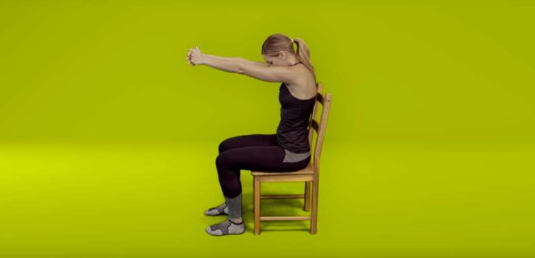 Neck pain exercises - upper back stretch