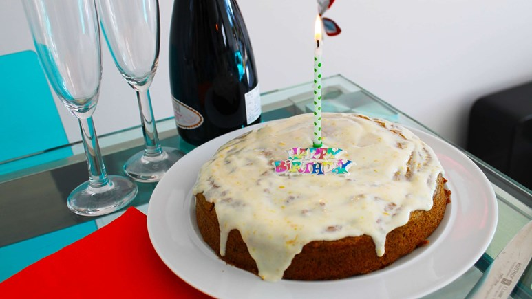 Recipe: No-added sugar, date, carrot, and parsnip cake