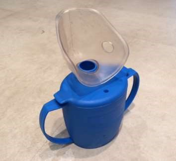 Steam cup used for inhalation in nasal congestion
