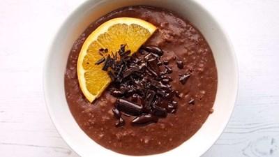 Chocolate orange porridge