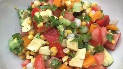Smoky corn & avocado salsa