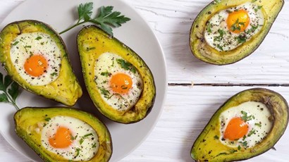 Baked eggs and avocado