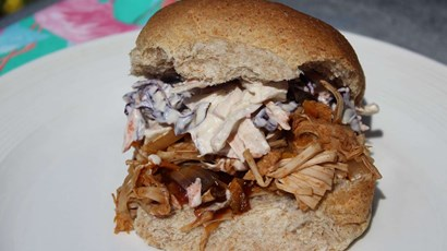 BBQ jackfruit pulled 'pork'